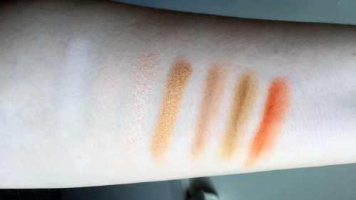 morphe 35o palette swatches first row