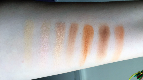 morphe 35o palette swatches second row