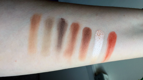 morphe 35o palette swatches third row