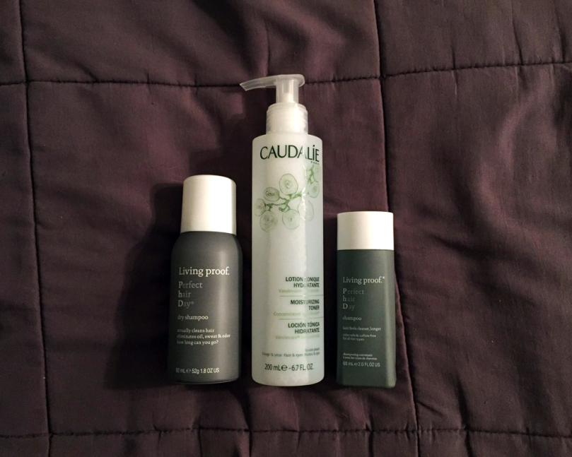 caudalie toner and living proof hair products