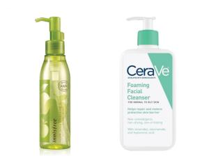 innisfree and cerave cleansers