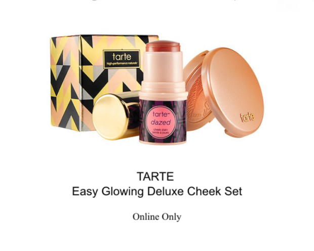 tarte easy glowing deluxe cheek set