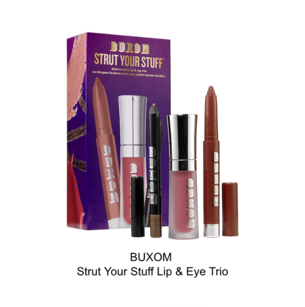 buxom strut your stuff lip and eye trio
