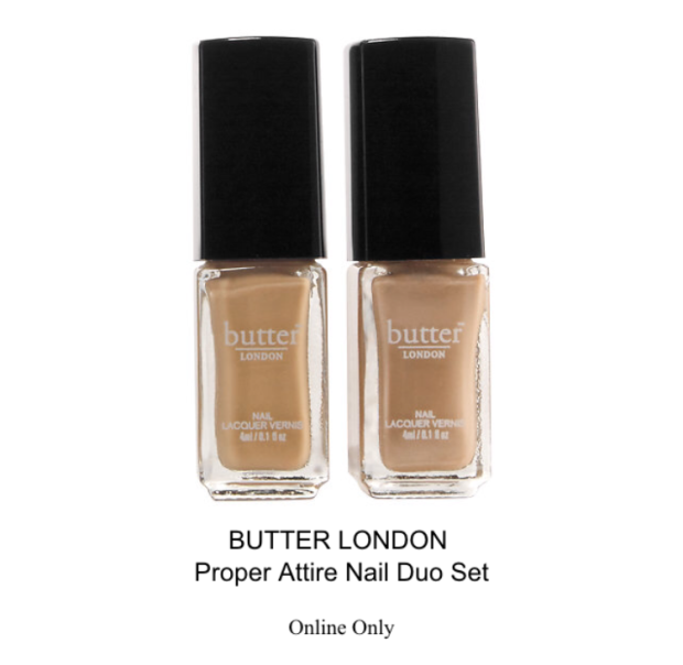 butter london proper attire nail duo set