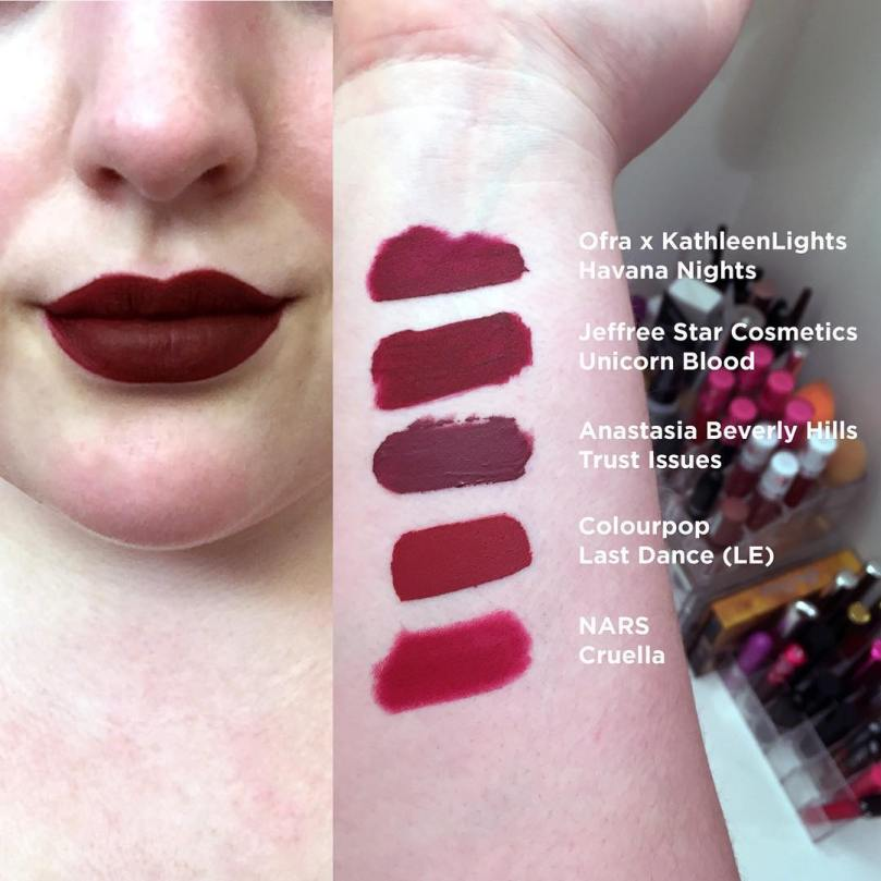 havana nights swatches and shade comparisons