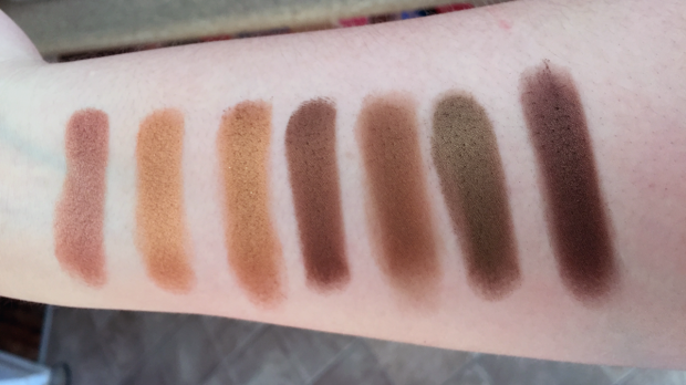 morphe 35t palette swatches row 4