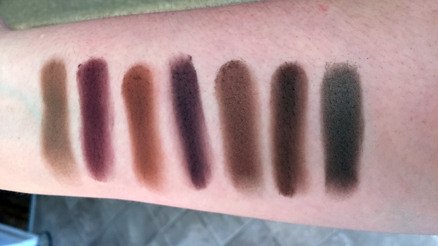 morphe 35t palette swatches row 5