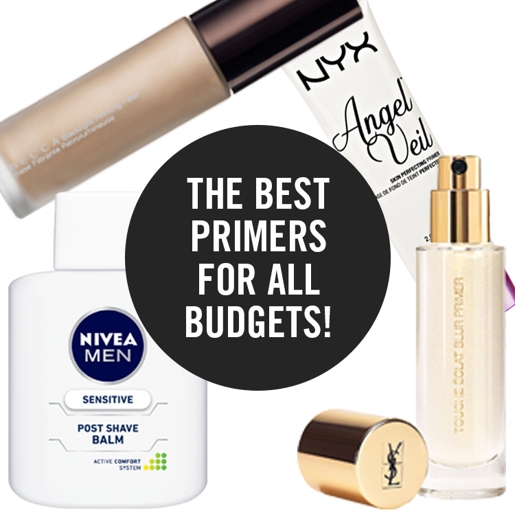 best primers for dry skin nivea post shave balm nyx angel veil becca backlight priming filter YSL touche eclat blur primer