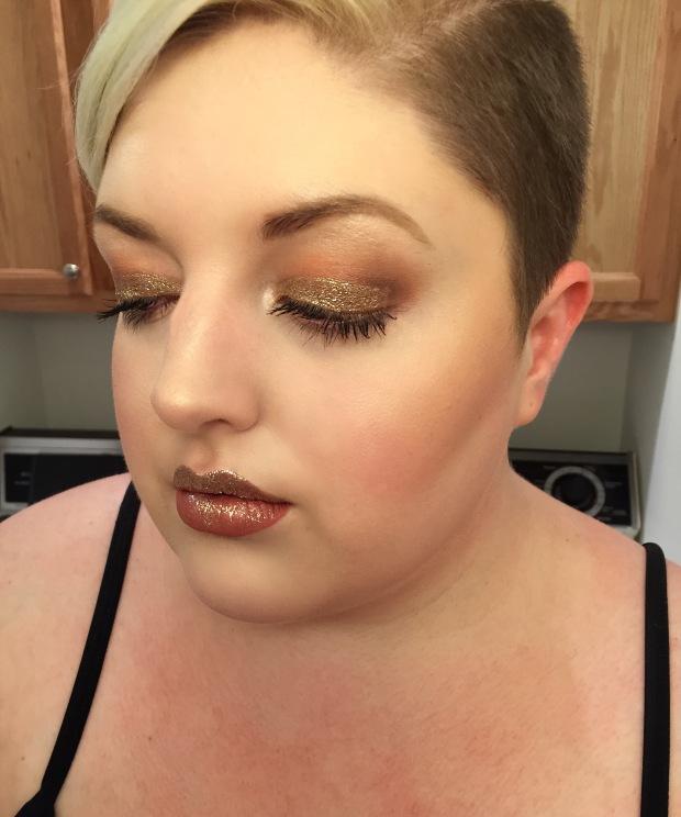 7 deadly sins greed makeup gold glitter