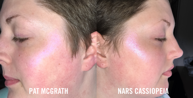pat mcgrath vs nars cassiopeia flash
