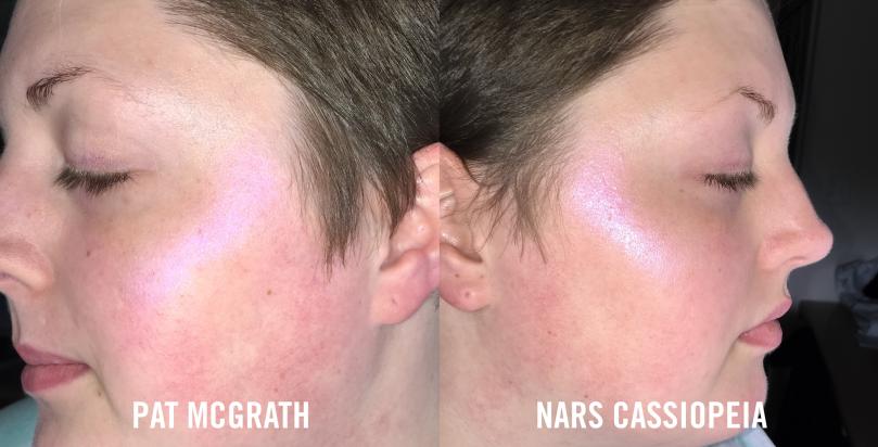 pat mcgrath vs nars cassiopeia flash