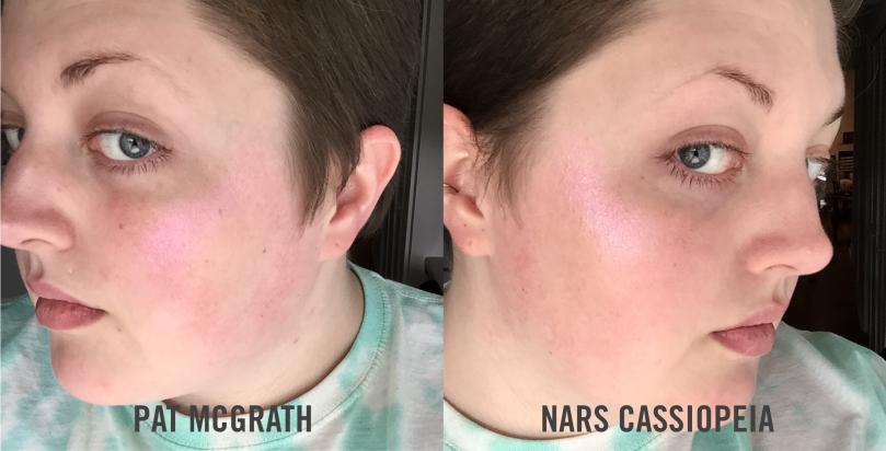 pat mcgrath vs nars cassiopeia natural light