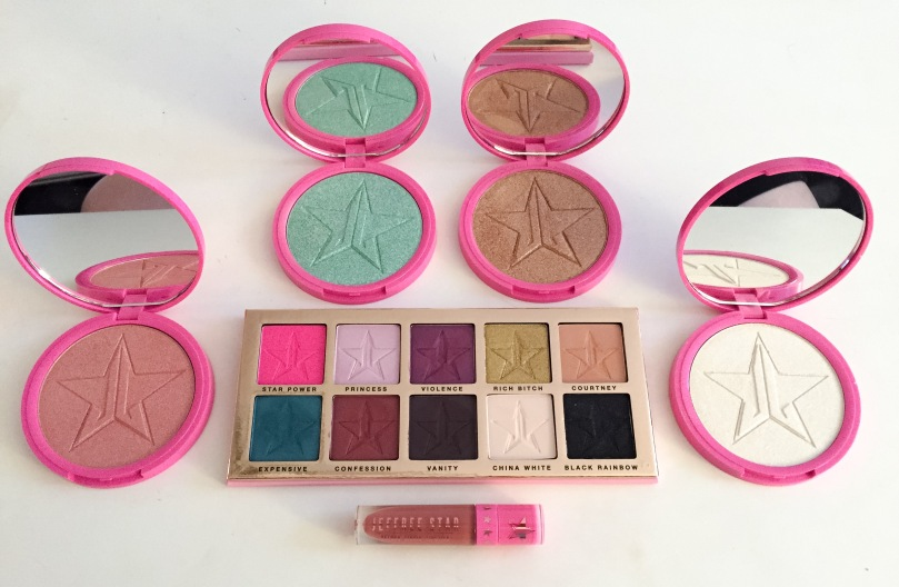 jeffree star beauty killer palette skin frost highlighters gemini liquid lipstick