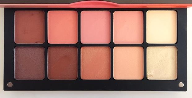 inglot custom peach palette