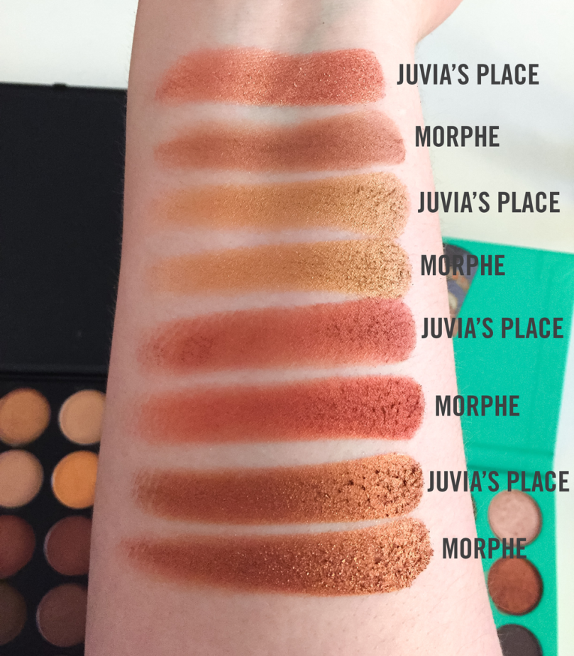 morphe 35o and juvias place swatches row 2