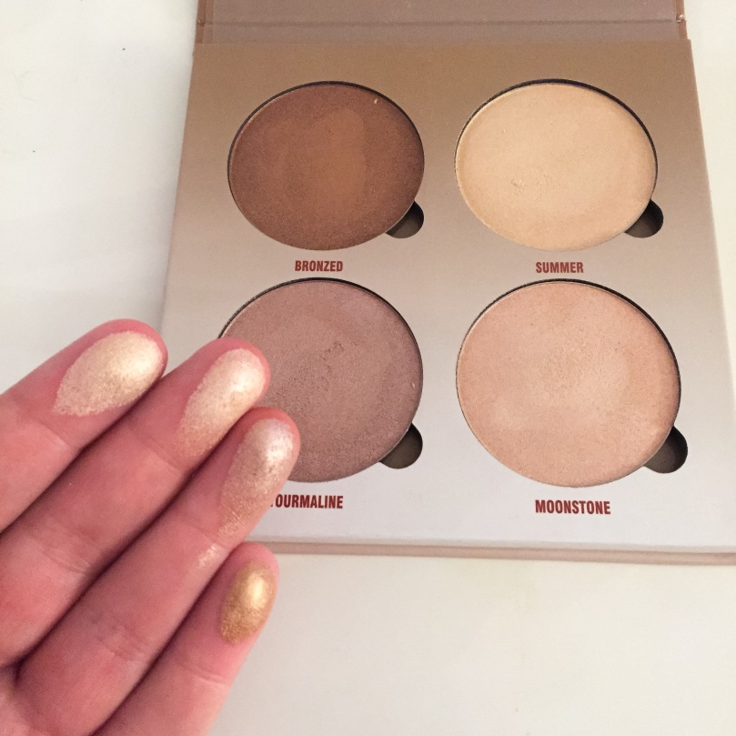 anastasia beverly hills sun dipped glow finger swatches