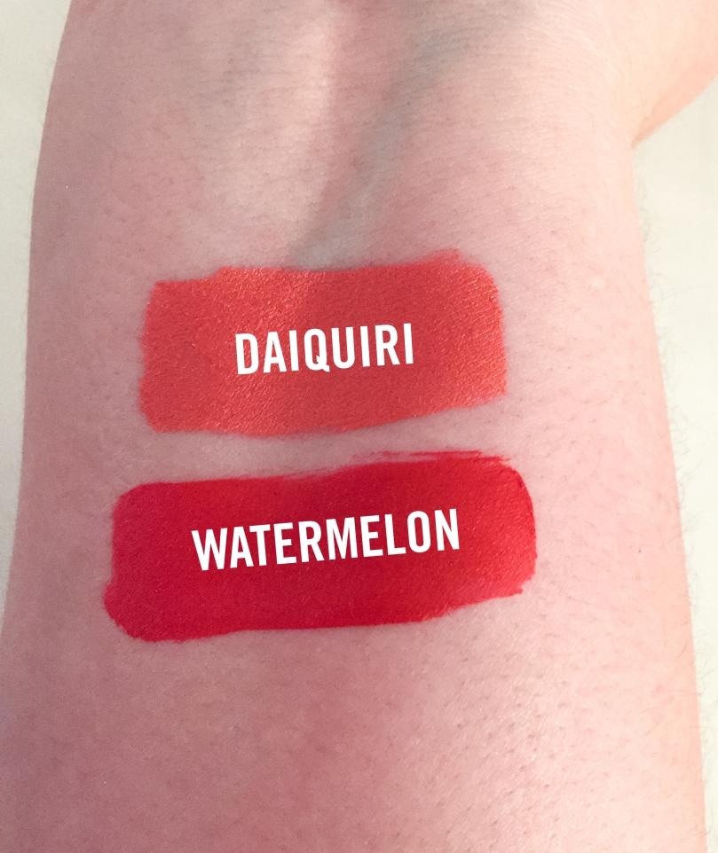 jouer cosmetics mermaid collection longwear lip cremes daiquiri and watermelon