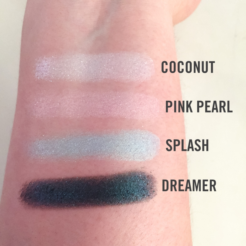 jouer mermaid eyeshadow palette swatches