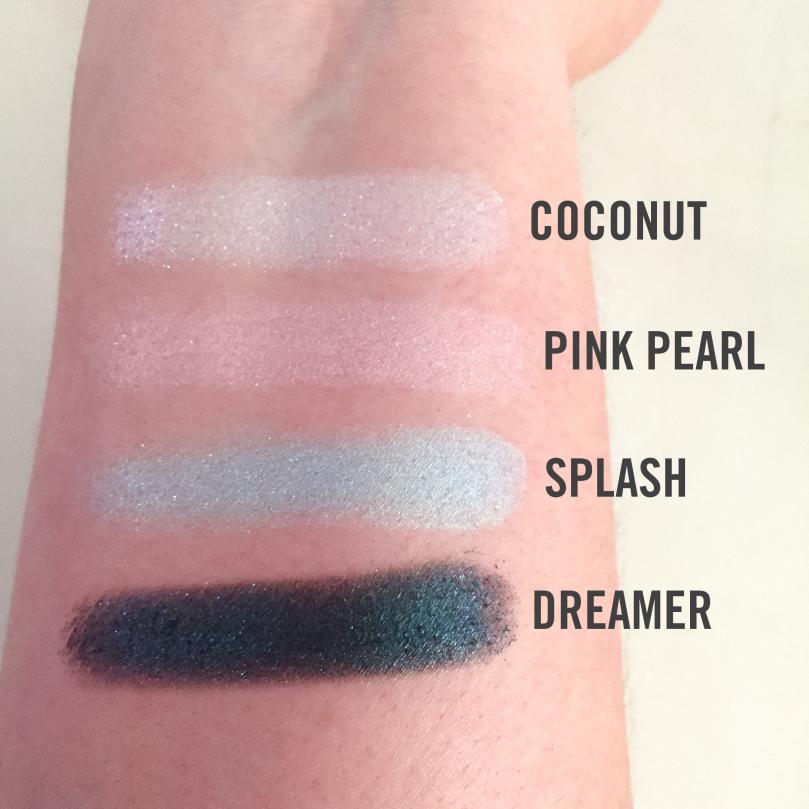 jouer mermaid eyeshadow palette swatches