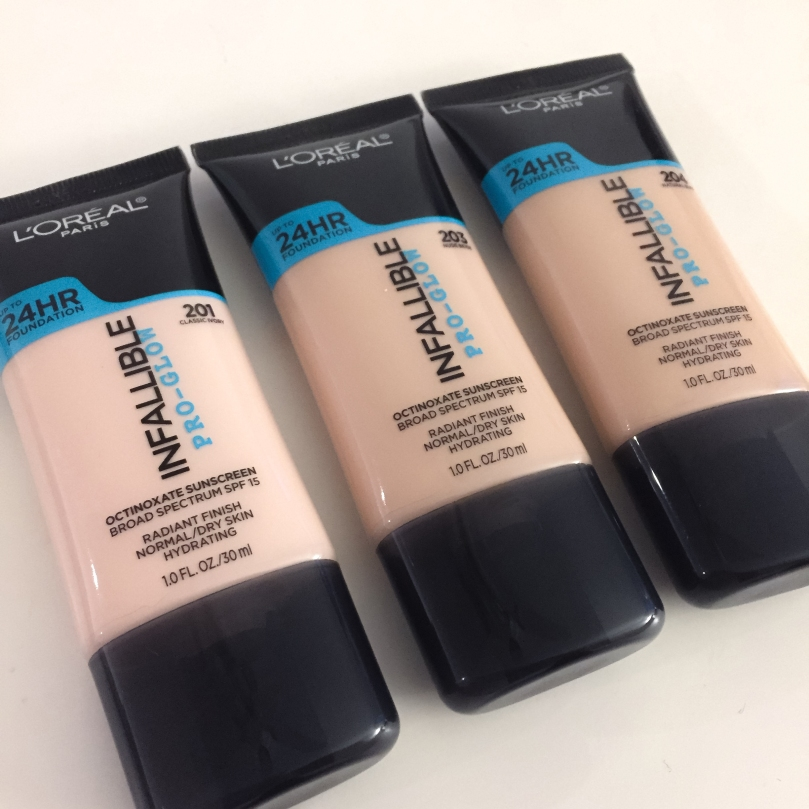 loreal pro glow foundations
